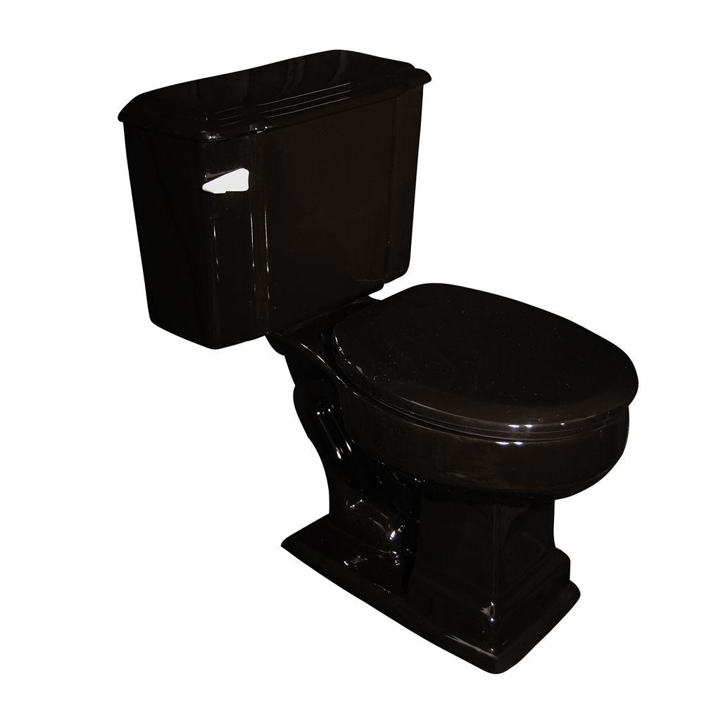 Pegasus Constitution 2-Piece 1.6 GPF Round Toilet in Black-DISCONTINUED