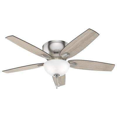 Oberlin 52 in. LED Indoor Brushed Nickel Ceiling Fan
