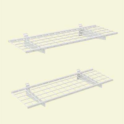 45 in. x 15 in. 2-Slat Wall Storage Shelves