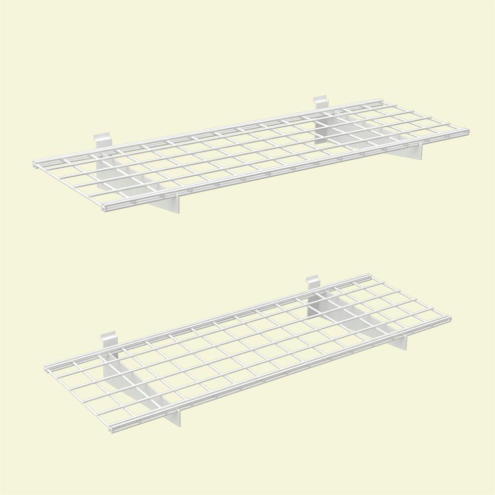 45 in. x 15 in. 2-Slat Wall Storage Shelves