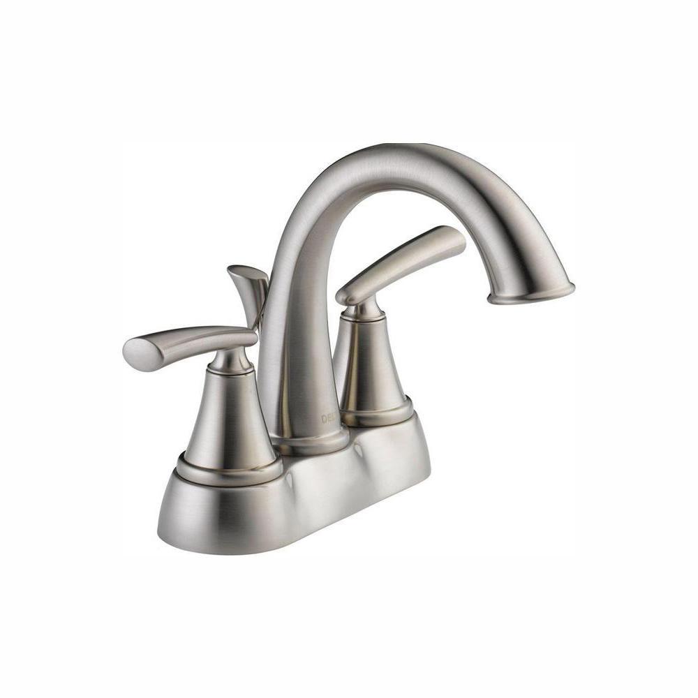 Kennett 4 in. Centerset 2-Handle Bathroom Faucet in Brushed Nickel