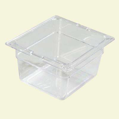 4 in. D Polycarbonate One Sixth Size Restaurant/Salad Bar Food Pan in Clear (Case of 6)
