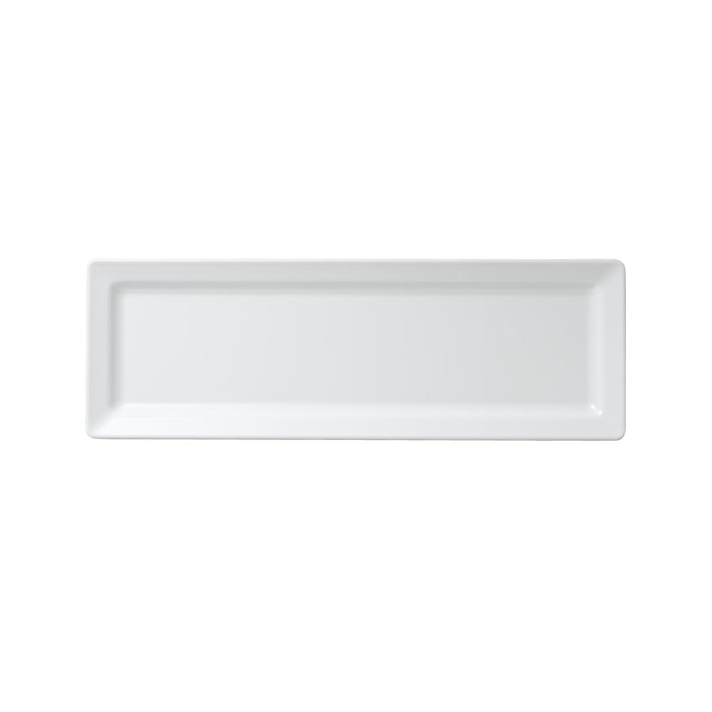 Diamond 21 in. x 7 in. Melamine Rectangle Serving Platter in