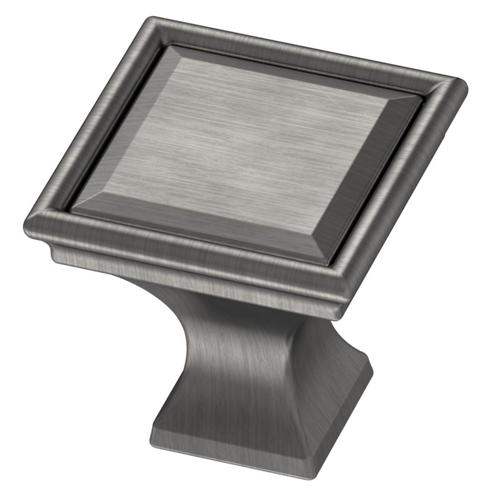 Vista 1-1/4 in. (32mm) Heirloom Silver Square Cabinet Knob