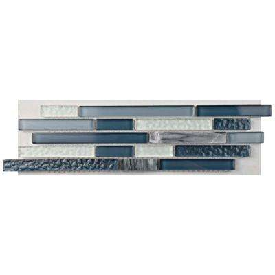 Tessera Piano Gulf Glass and Stone Mosaic Tile - 3 in. x 4 in. Tile Sample