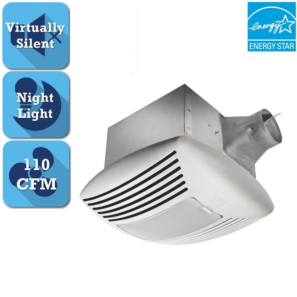 Delta Breez Signature G2 Series 110 CFM Ceiling Bathroom Exhaust Fan with Night-Light