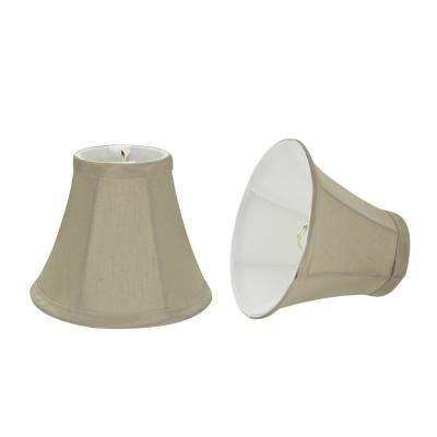 6 in. x 5 in. Butter Creme Bell Lamp Shade (2-Pack)