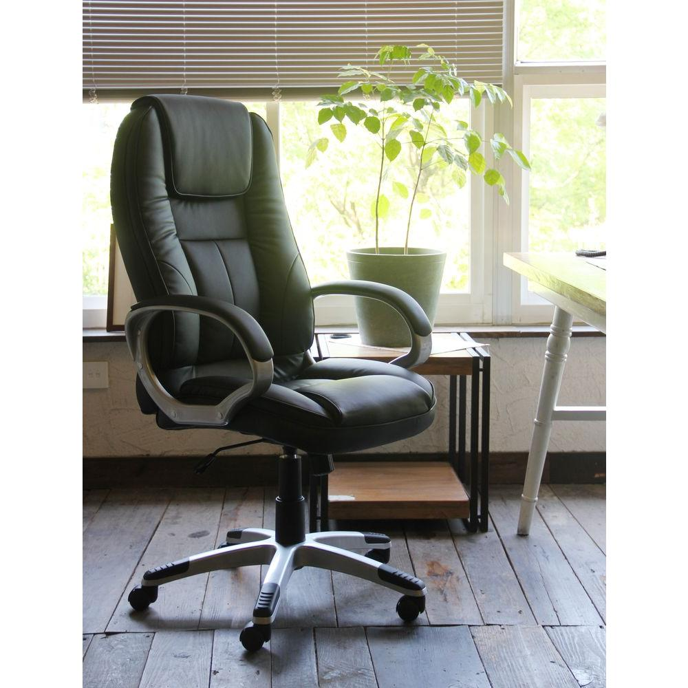 Home Decorators Collection Black Faux Leather Executive Office Chair Cnf1599 The Home Depot