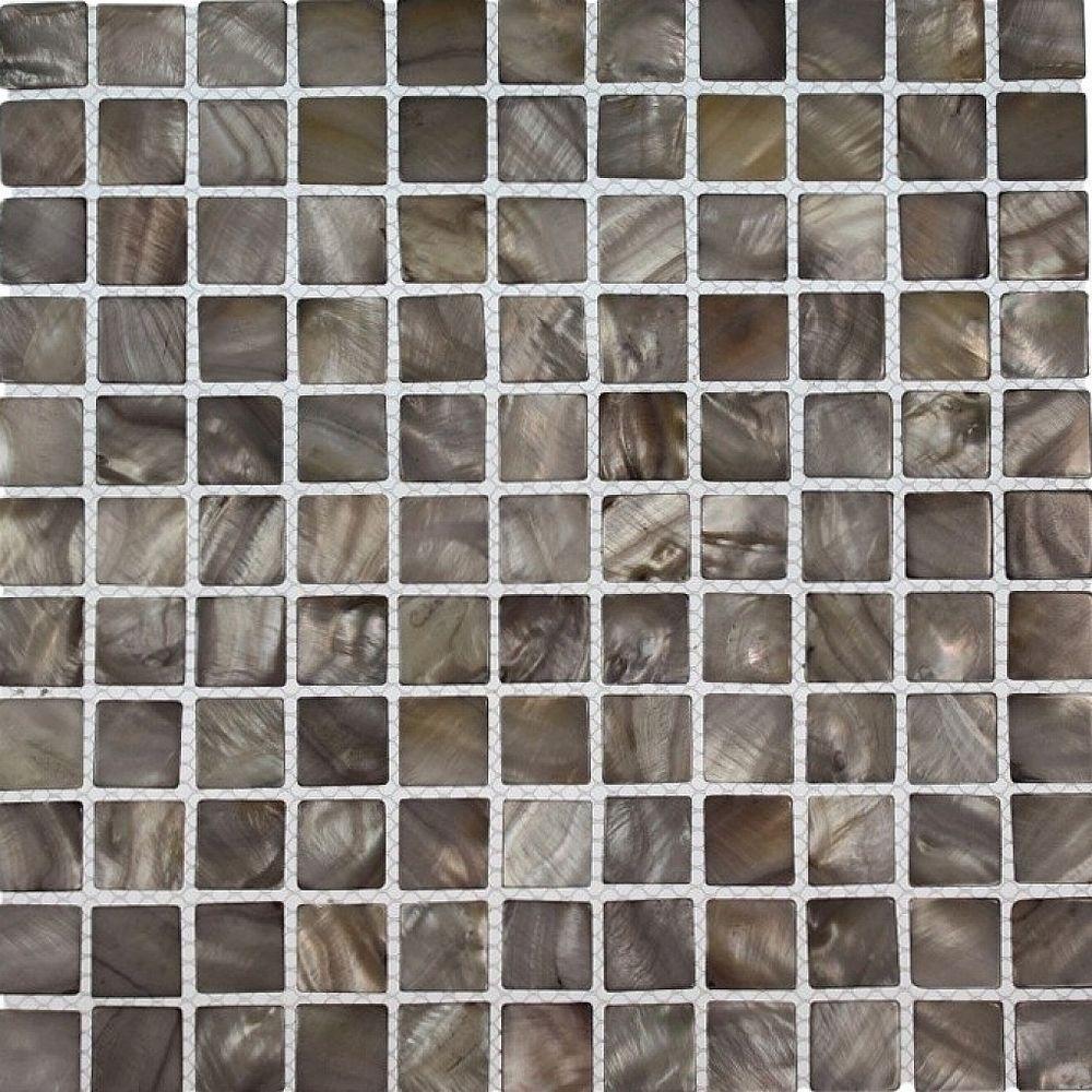 Splashback Tile Mother of Pearl Silver Mist 12 in. x 12 i...