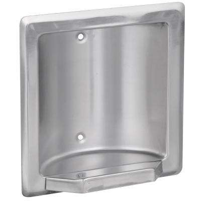 Century Recessed Soap or Tumbler Holder in Bright Stainless