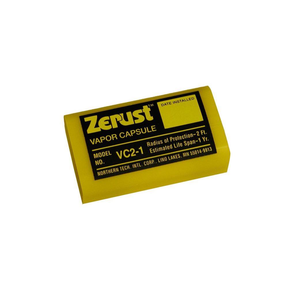 Zerust 2 in. x 1.25 in. x 0.75 in. VC2-1 No Rust Vapor Capsule, Yellow