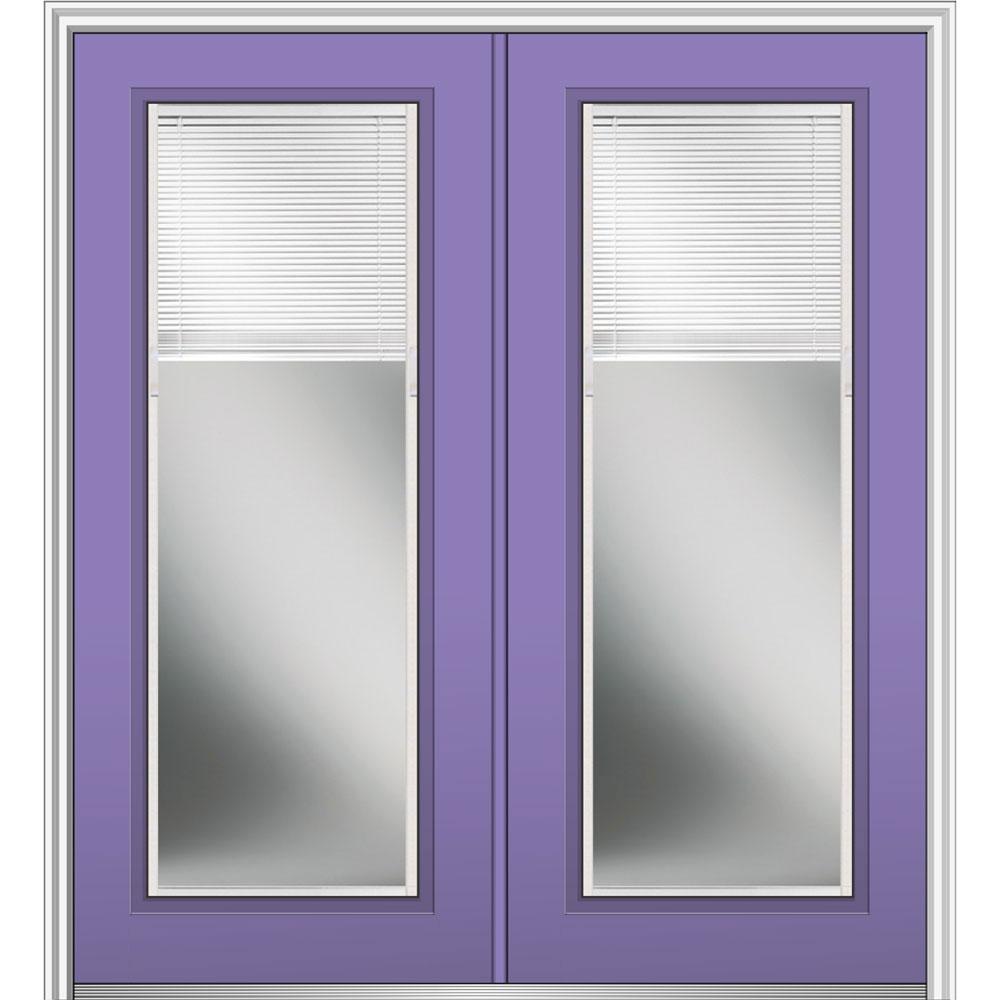 Mmi Door 64 In X 80 In Internal Blinds Low E Glass Left
