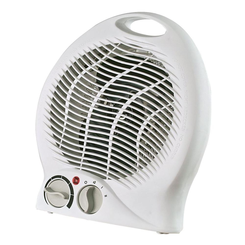 optimus 750 watt to 1500 watt portable fan heater with thermostat h1322 the home depot. Black Bedroom Furniture Sets. Home Design Ideas