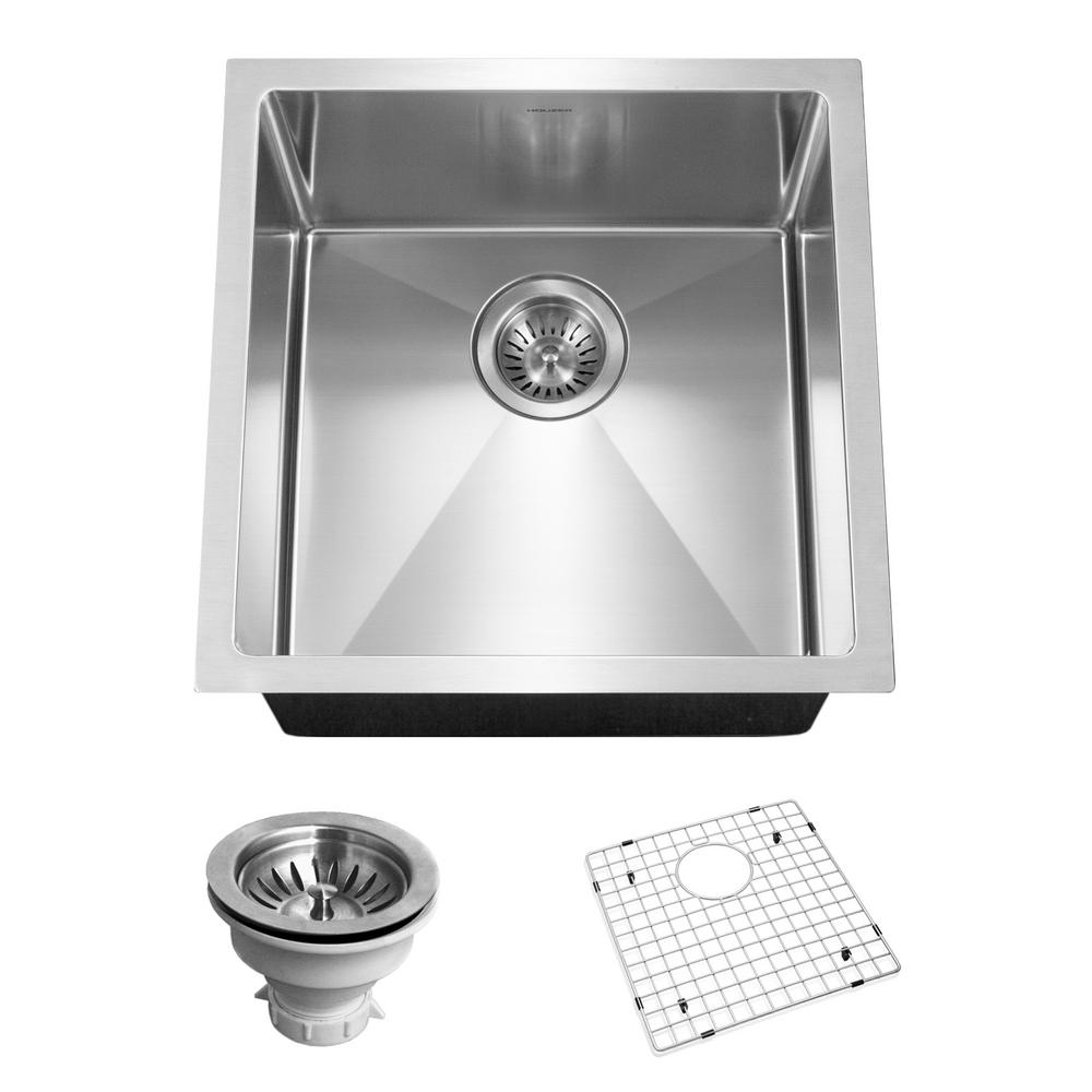 Savoir Series Undermount Stainless Steel 17 in. Single Bowl Kitchen Sink,