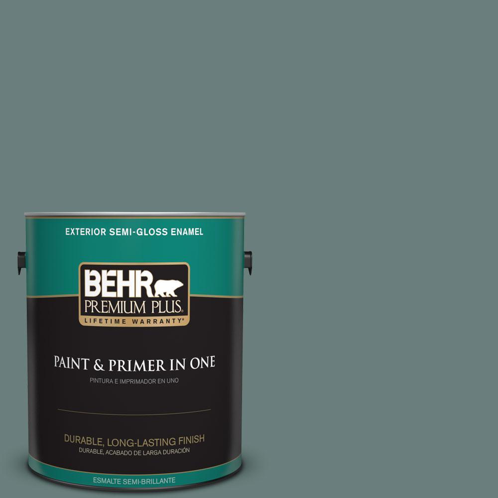 1-gal. #N430-5 Aspen Valley Semi-Gloss Enamel Exterior Paint