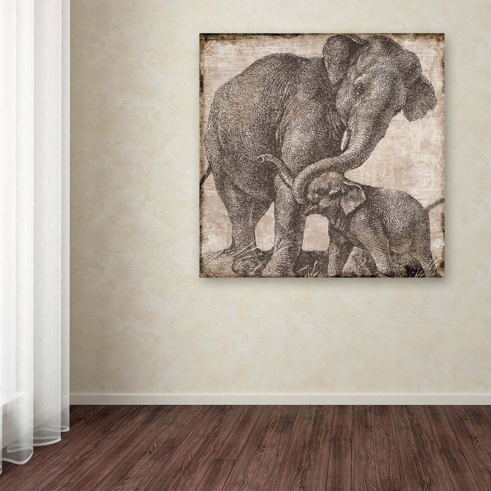"""18 in. x 18 in. """"Elephant 2"""" by Color Bakery Printed"""