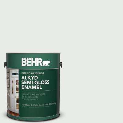 1 gal. #BWC-19 Queen Anne's Lace Semi-Gloss Enamel Alkyd Interior/Exterior Paint