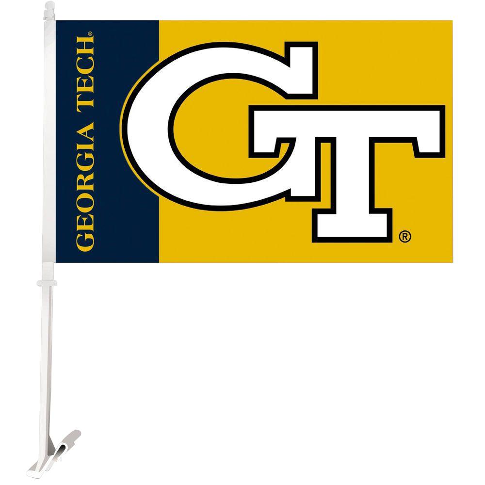 NCAA 11 in. x 18 in. Georgia Tech 2-Sided Car Flag