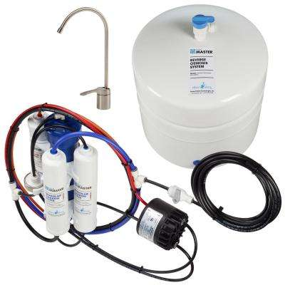 Standard with Permeate Pump Loaded Under Sink Reverse Osmosis Water Filter System