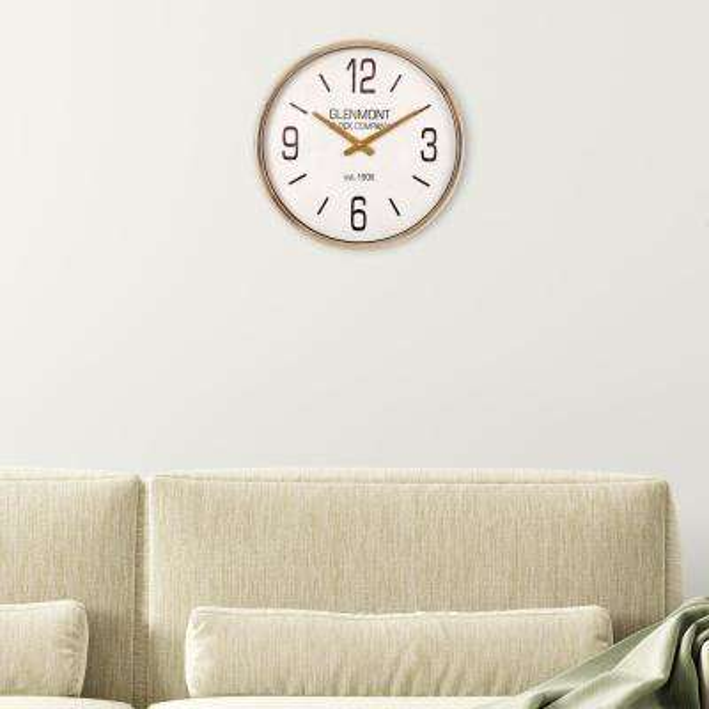 Glenmont Gold Metallic Wall Clock