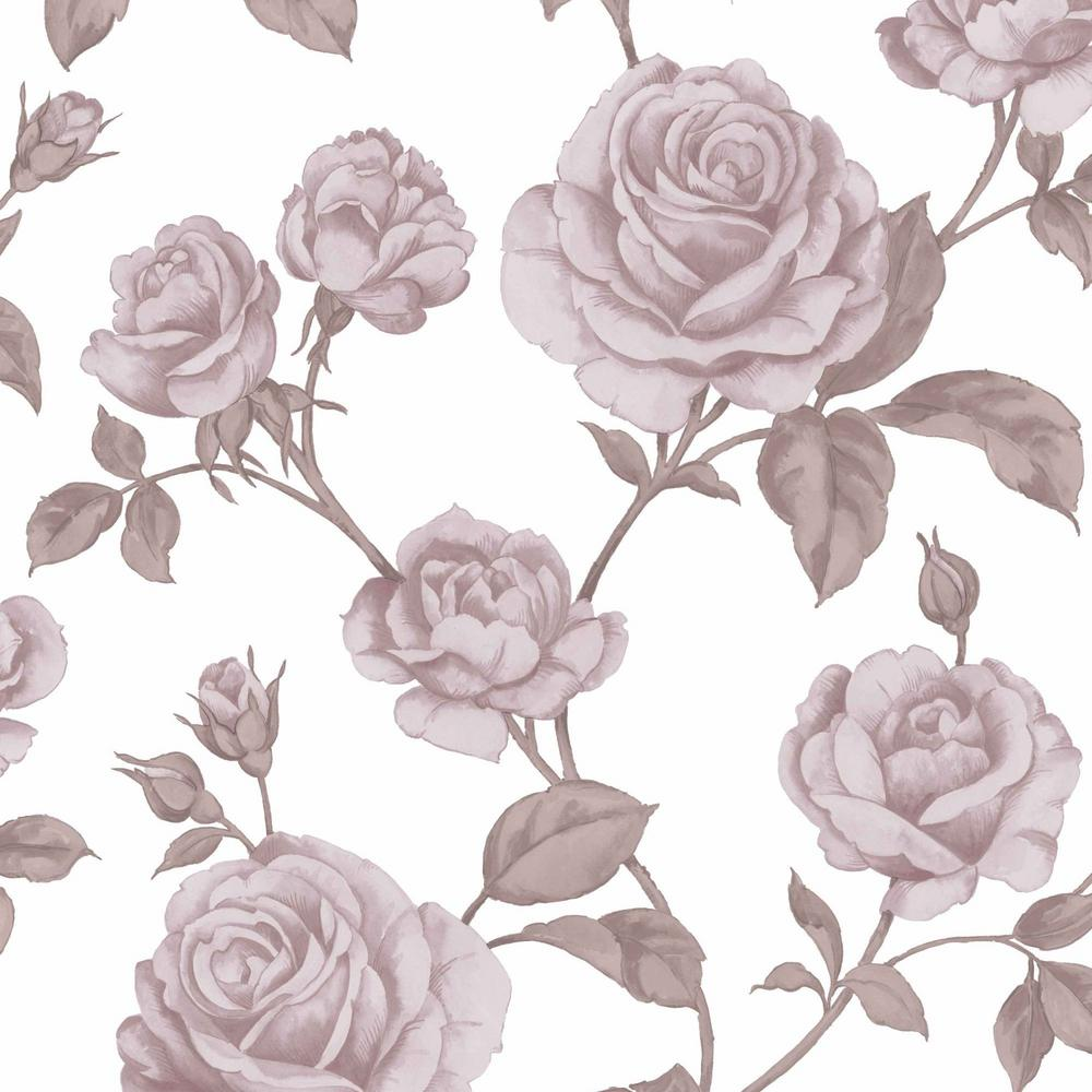 Graham & Brown Countess Pink and White Removable Wallpaper