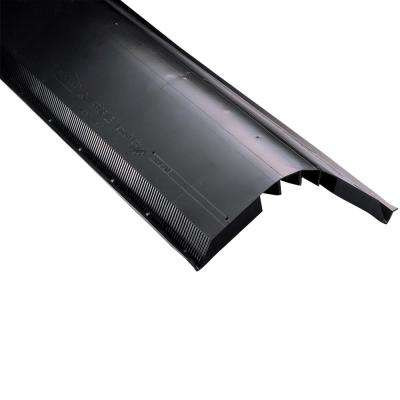 VneturiVent 1.1 in. x 14.2 in. x 48 in. Ridge Vent in Black with Nails (Sold in Carton of 10-Pieces Only)