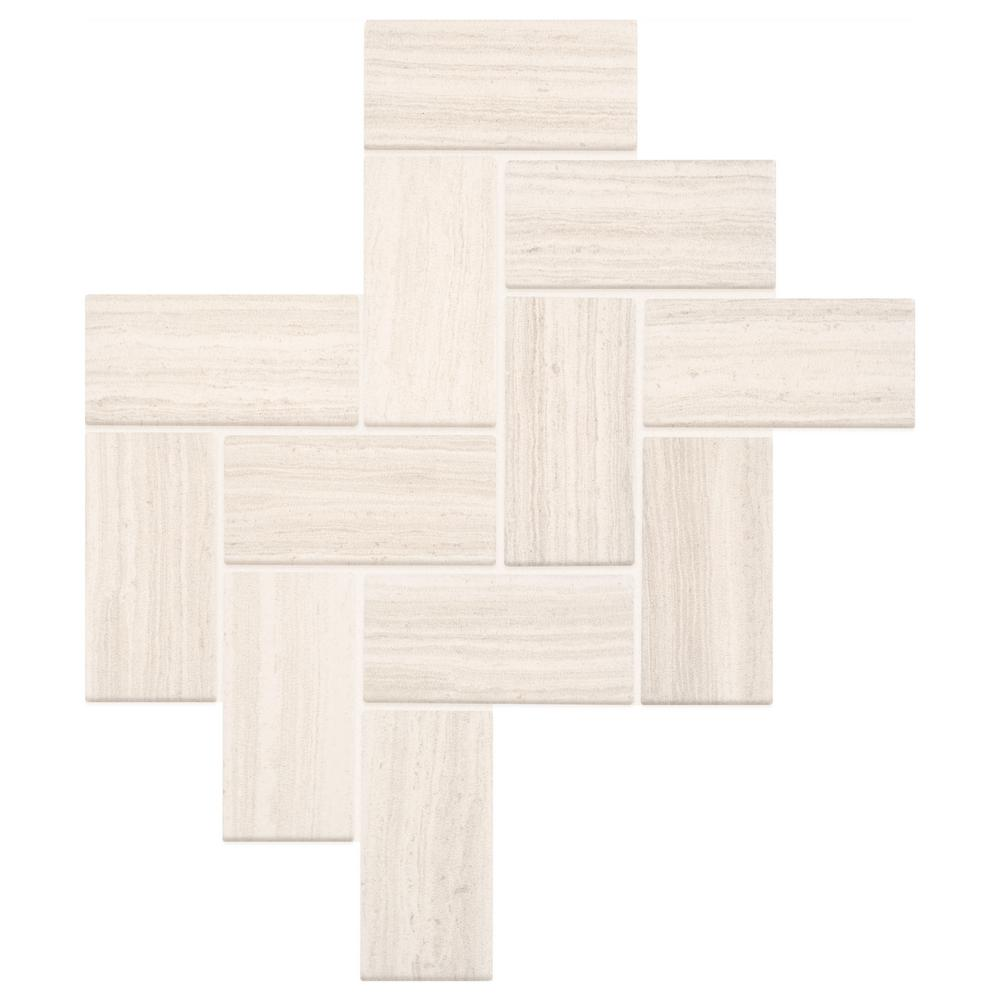 Marazzi Developed by Nature Chenille 12 in. x 14 in. x 6.35 mm Ceramic Mosaic Wall Tile (0.67 sq. ft. / piece)