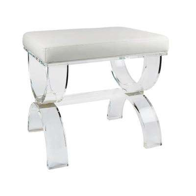 Urban Modern 16 in. x 19.75 in. Acrylic Bench