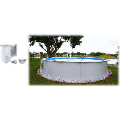 24 ft. Round x 52 in. D Above Ground Pool Package (1 Additional Item Included)
