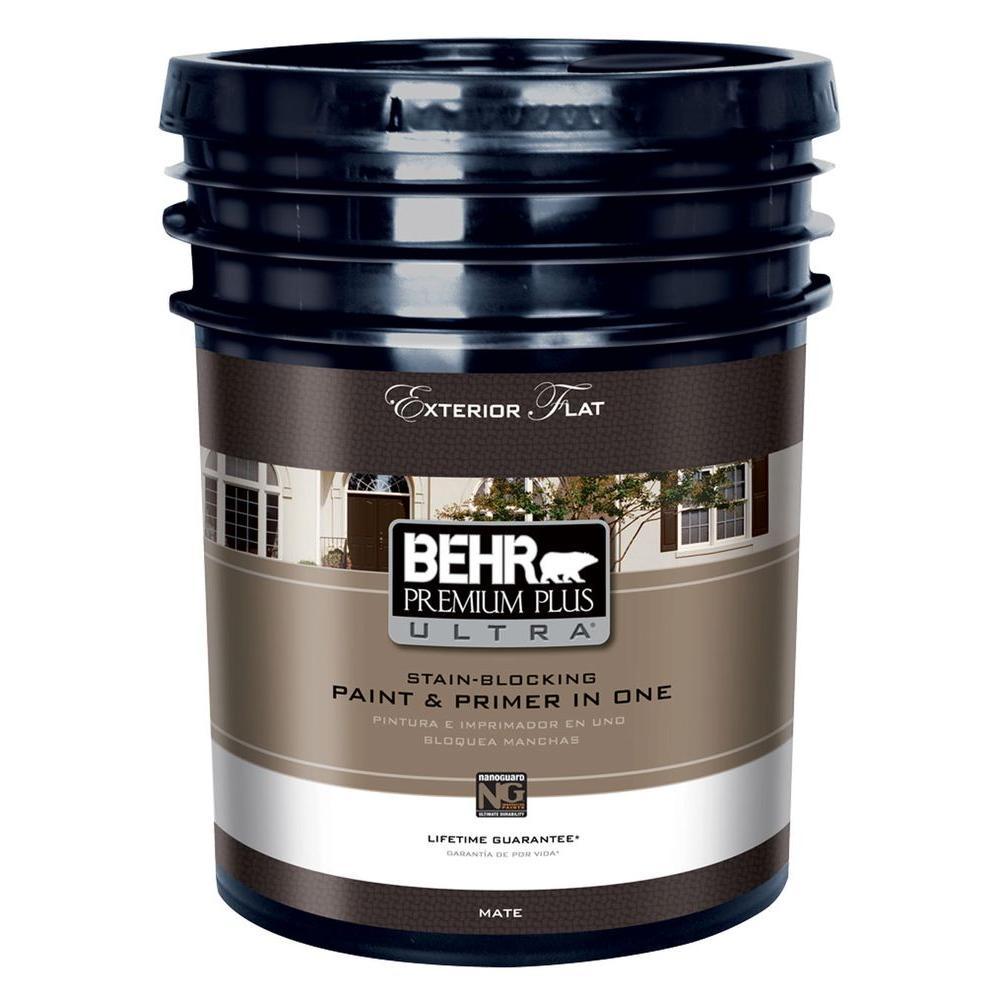 Behr premium plus ultra 5 gal medium base flat low voc - Behr ultra exterior paint reviews ...