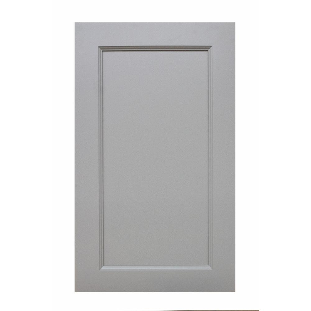 Krosswood Doors Modern Craftsman Ready to Assemble 15x36x12 in. Wall Cabinet with 1-Door 2-Shelf in Gray