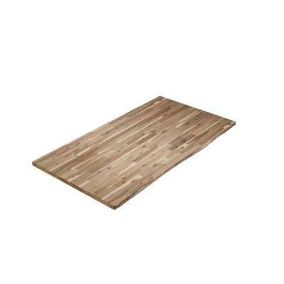 6 ft. 2 in. L x 3 ft. 4 in. W x 1.5 in. T Butcher Block Countertop in Acacia Unfinished Live Edge