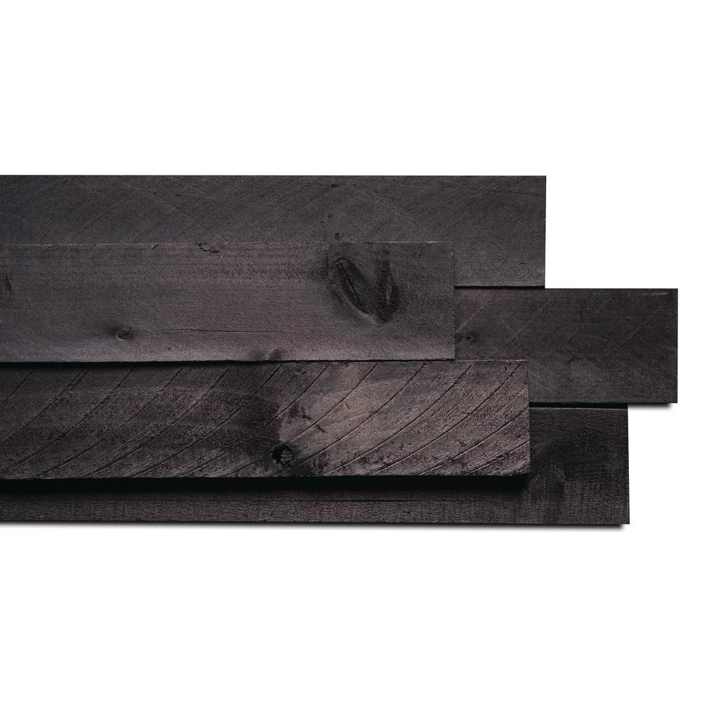 Weaber 1/2 in. x 4 in. x 4 ft. Anthracite Barn Wood Board (8-Piece)