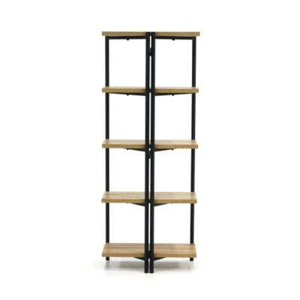 North Avenue Charter Oak 5 Shelf Bookcase