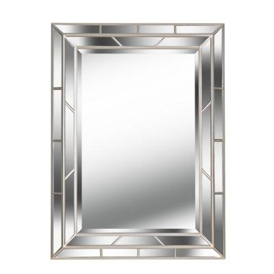 Lens 38 in. x 28 in. Wood Framed Mirror