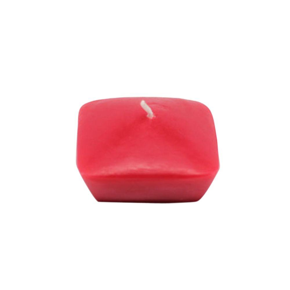 2.25 in. Red Square Floating Candles (12-Box)