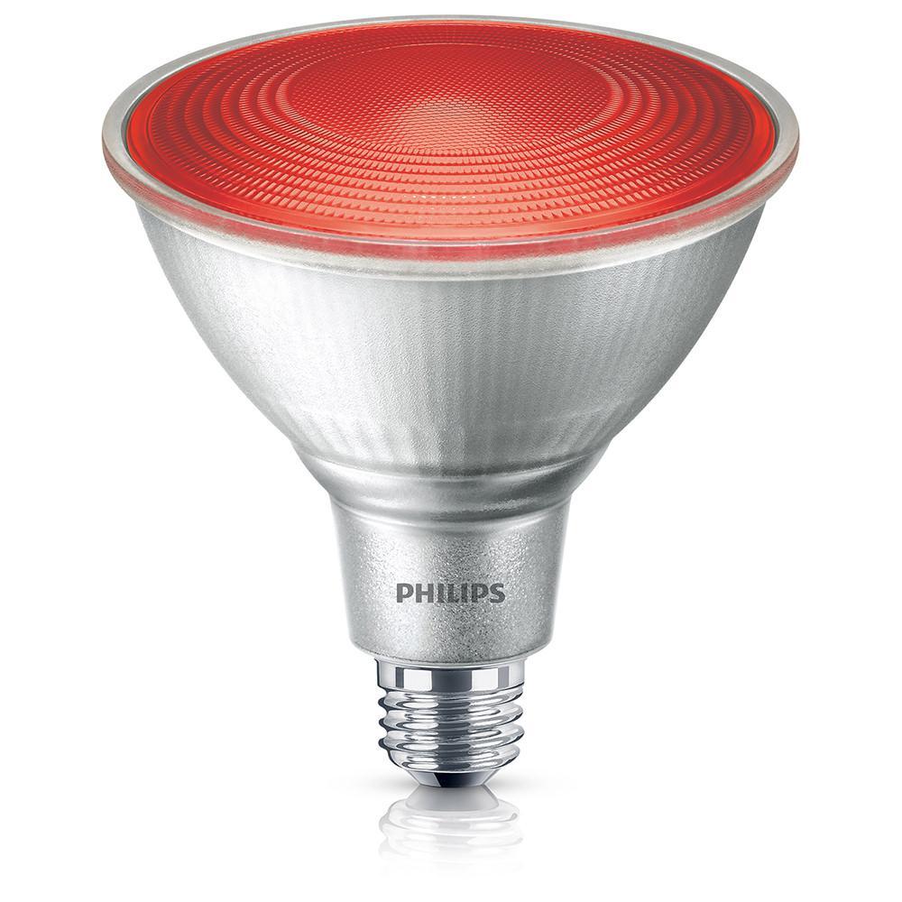 90W Equivalent PAR 38 Red LED Flood Light Bulb