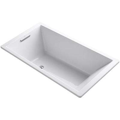 Underscore 5.5 ft. Reversible Drain Bathtub in White