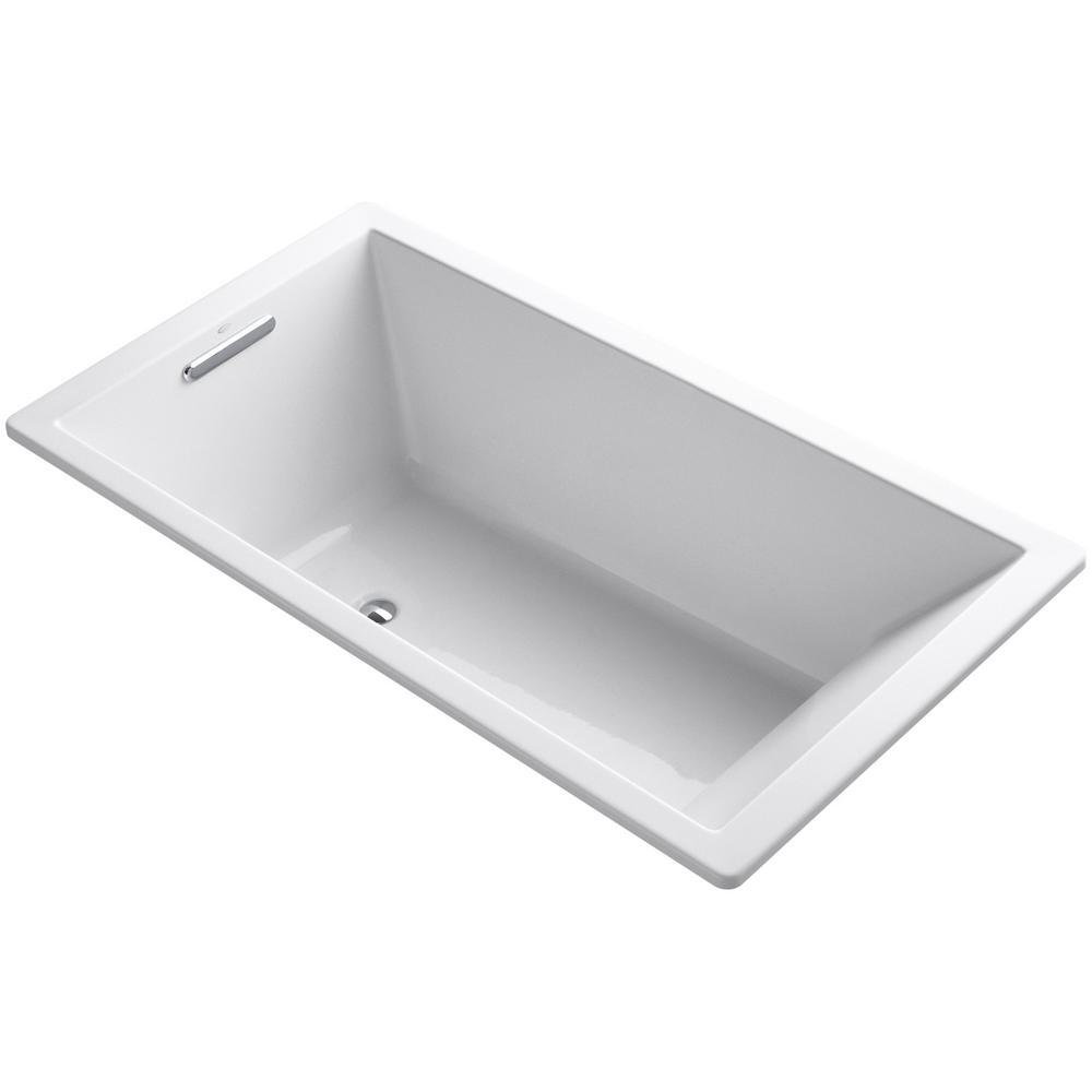 Underscore 5.5 ft. Reversible Drain Bathtub in White