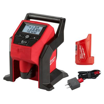 Milwaukee M12 Compact Inflator + Battery Pack + Milwaukee M12 Charger