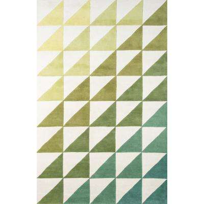Agatha Side Triangle Lime 3 ft. 6 in. x 5 ft. 6 in. Indoor Area Rug