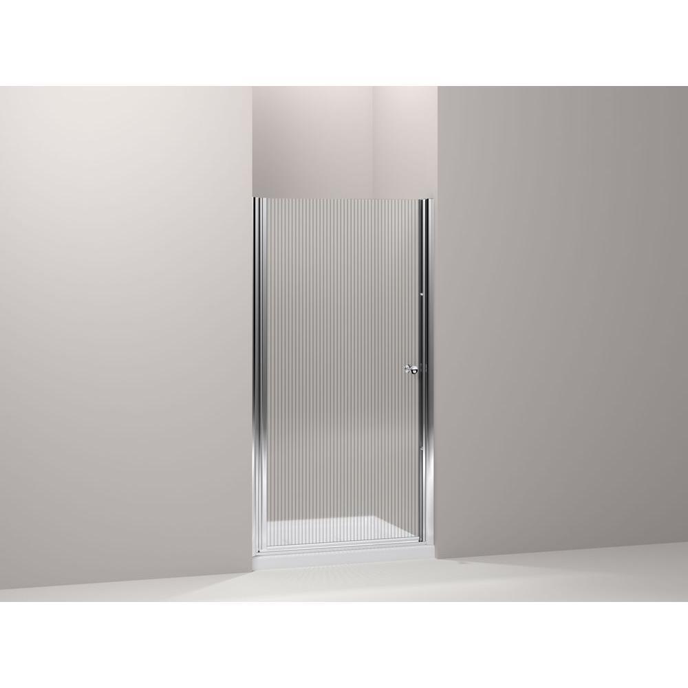Fluence 34 in. x 65-1/2 in. Semi-Frameless Pivot Shower Door in