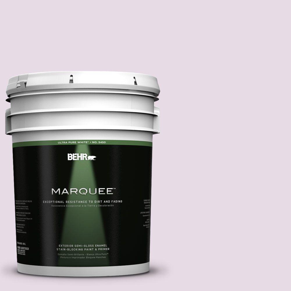 BEHR MARQUEE 5-gal. #680E-2 Iced Mauve Semi-Gloss Enamel Exterior Paint