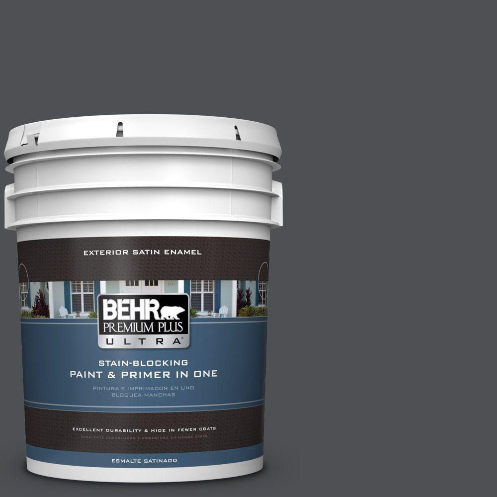 BEHR Premium Plus Ultra 5-gal. #770F-6 Evening Hush Satin Enamel Exterior Paint