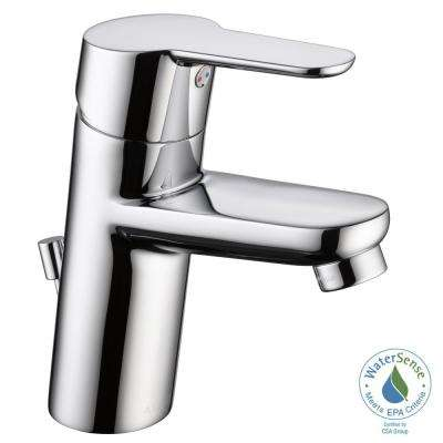 Modern Project Pack Single Hole Single-Handle Bathroom Faucet in Chrome