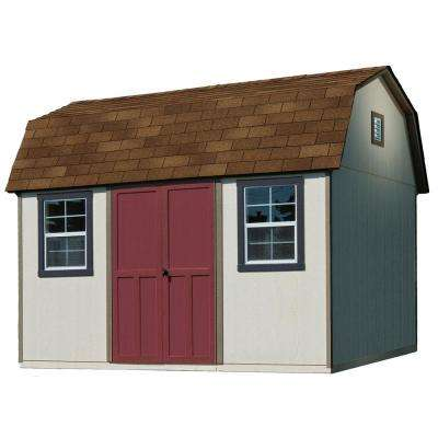 12 ft. x 8 ft. Installed Briarwood Deluxe Wood Storage with Upgrades and Autumn Brown Shingles Shed