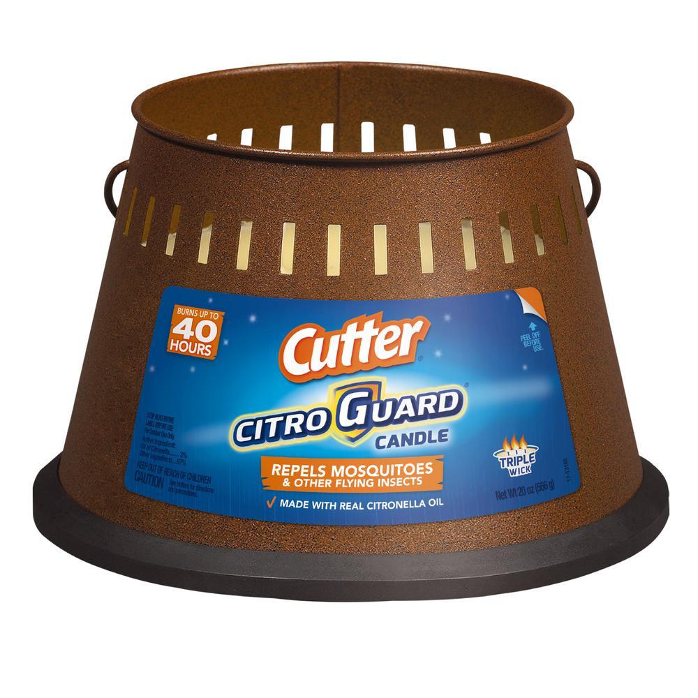 Cutter 20 oz. CitroGuard Triple Wick Citronella Candle