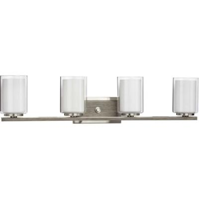 Mast 4-Light Brushed Nickel Bath Light