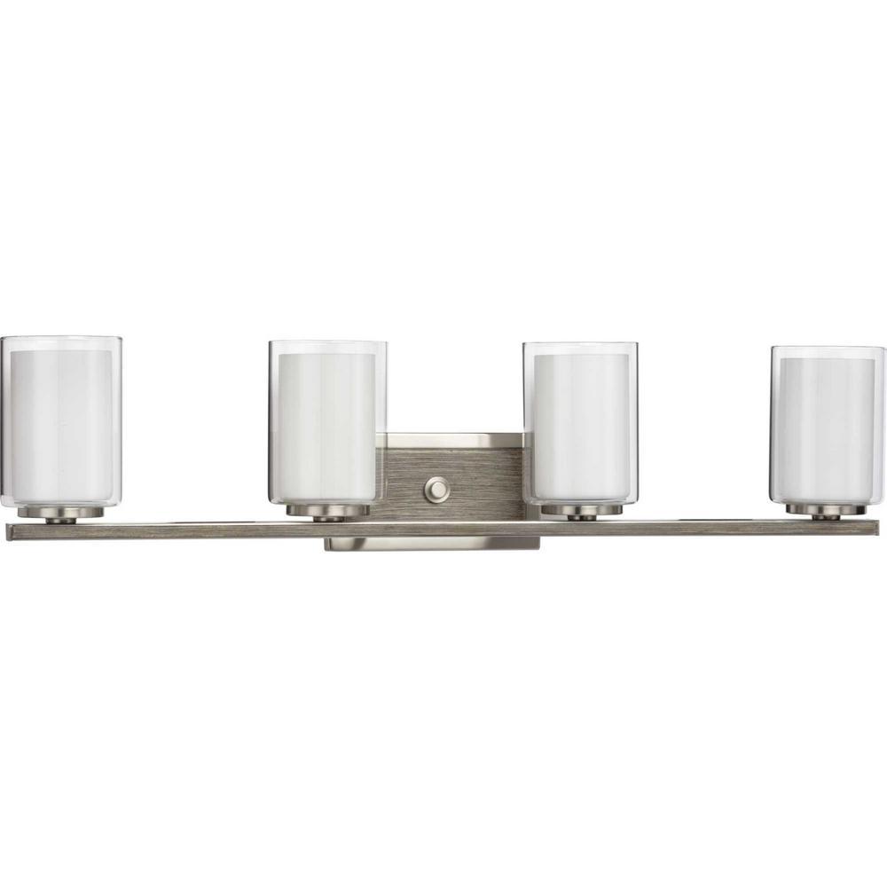 Mast 4-Light Brushed Nickel Bath Light