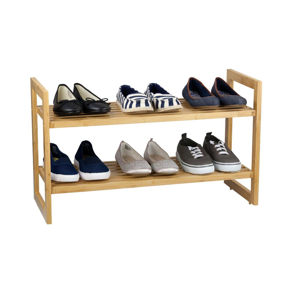 Sunbeam 6-Pair Bamboo Shoe Organizer